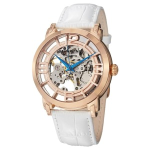 Stuhrling Winchester 165B2.334P14 Rose-Tone Stainless Steel & Leather 44mm Watch
