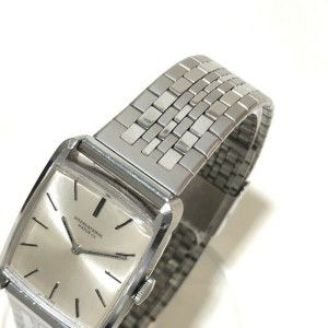 IWC Stainless Steel/18K White Gold Square Wrist watch