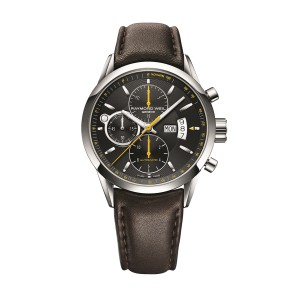 Raymond Weil Freelancer 7730-STC-20021 Leather Strap 42mm Mens Watch