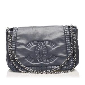 CC Chain Lambskin Leather Shoulder Bag