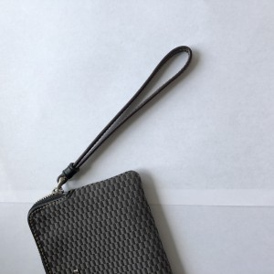 Authentic COACH Clutch Gray Fabric Silver Hardware