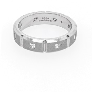 Jeff Cooper R-3071 Platinum Diamonds Ring