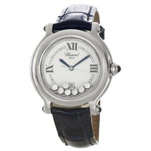 Chopard Stainless Steel 32mm 7 Floating Diamonds Happy Sport Women's Watch