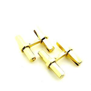 Cartier 18K Yellow Gold Baton Slide Lock Cuff Links