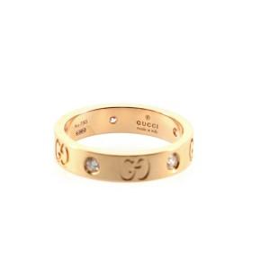 Gucci Icon 5 Diamonds Ring 18K Rose Gold and Diamonds Thin 4.25 - 48