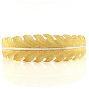 Buccellati 18K Yellow Gold Leaf Bracelet