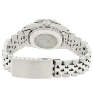 Rolex Datejust Midsize 31MM Automatic Stainless Steel Watch w/Black Jubilee Diamond Dial & Bezel
