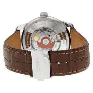 Oris Artelier 0173376704351-0712173FC Stainless Steel   Leather 40mm Watch 2d75b92bd8f