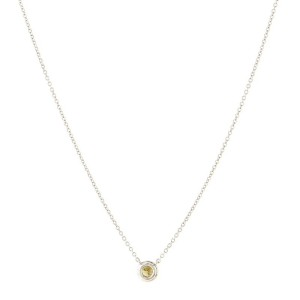 Tiffany & Co. Soleste Round Pendant Necklace Platinum with Yellow and White Diamonds Small