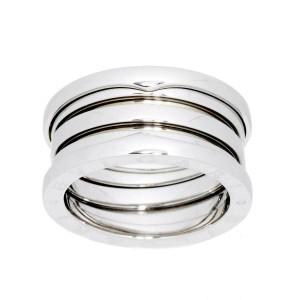 BVLGARI 18K white gold B-ZERO 1 4 BAND Ring
