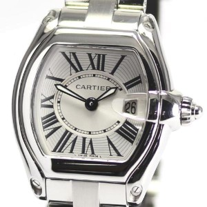 Cartier Roadster Stainless Steel Quartz 33mm Womens Watch