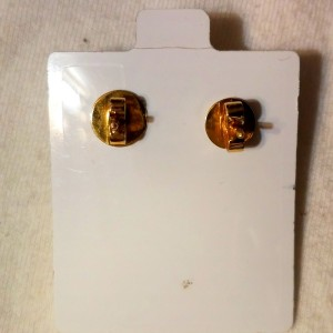 14K Yellow Gold with Mabe Cultured Pearl Vintage Earrings
