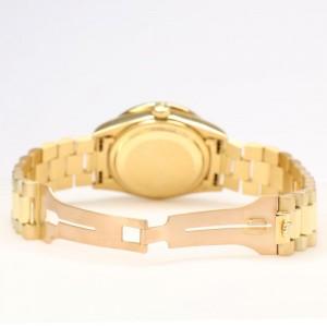 Rolex President Day-Date 36mm Yellow Gold Watch 3CT Baguette Diamond Bezel/Green Diamond Dial
