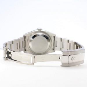 Rolex Datejust 36MM Steel Oyster Watch with Custom Diamond Bezel/White Jubilee Diamond Dial