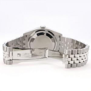 Rolex Datejust 116200 36mm 1.85ct Diamond Bezel/Blue Flower Diamond Dial Steel Watch