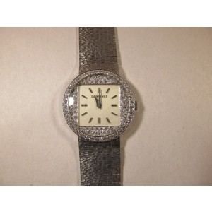 Longines Unisex 14K White Gold Mechanical Movement Vintage Watch