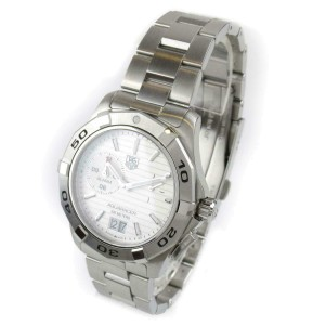 TAG HEUER Stainless steel/Stainless steel Aquaracer alarm watch RCB-41