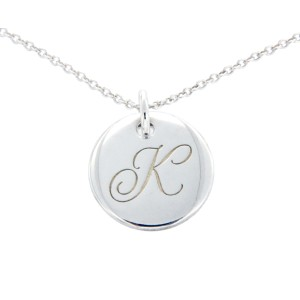 Tiffany & Co. 925 Sterling Silver Alphabet Letter K Necklace
