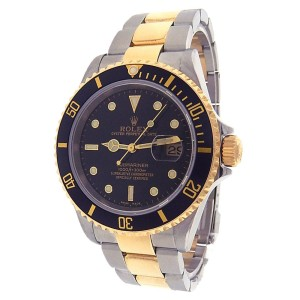 Rolex Submariner 16613 18K Yellow Gold & Stainless Steel Oyster Black Dial Automatic 40mm Men's Watch