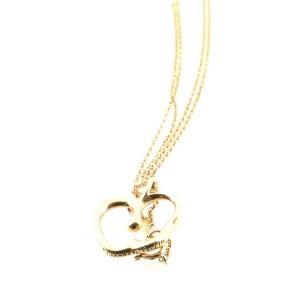 Tiffany & Co. Elsa Peretti Apple Pendant Necklace 18K Yellow Gold