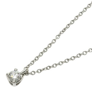 TIFFANY & Co. Platinum Diamond Solitaire Necklace