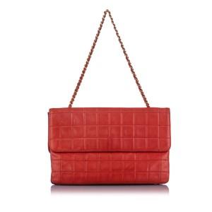 Choco Bar Reissue Lambskin Leather Shoulder Bag