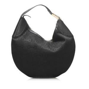 Horsebit Glam Canvas Hobo Bag