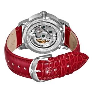 Stuhrling Venus Victrix 349.1115H7 Stainless Steel & Leather MOP 37mm Watch