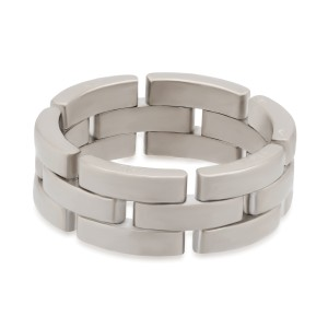 Cartier Maillon Panthere Ring 18K White Gold Size 9