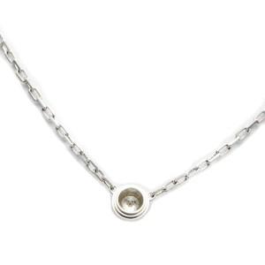 Cartier 18K white Gold Diamants Légers Necklac