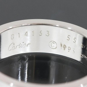 Cartier 18K White Gold Love Ring Size 7.25