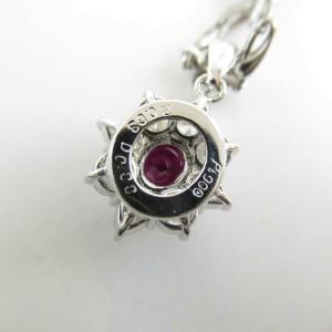 JEWELRY pltinum Ruby diamond necklace RCB-31