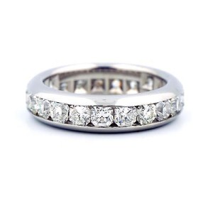 d97c7efbf Tiffany & Co. Lucida Platinum 2.31 Ct Diamond Eternity Band Ring Size 9.25