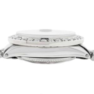 Rolex Datejust Ladies 26MM Automatic Steel Jubilee Watch w/Royal Blue Diamond Dial & 1.35Ct Bezel