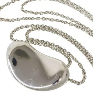 TIFFANY & CO. 925  Sterling Silver Elsa Peretti Bean Pendant Necklace
