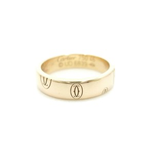 Cartier 18K Yellow Gold Happy Birthday Ring US size 4