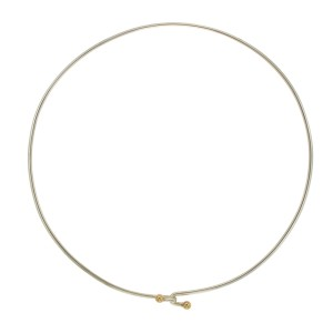 Tiffany & Co. 925 Sterling Silver & 18K Yellow Gold Choker Necklace