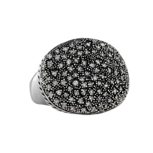 David Yurman Midnight Melange Oval Diamond Ring
