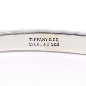 TIFFANY & Co. Silver Ble Rubbed T Bangle