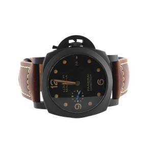 Panerai Luminor Marina 1950 3 Day Automatic Watch Carbotech and Titanium with Leather 44