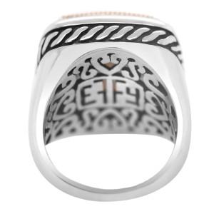 Effy 18k Gold and Silver Smokey Quartz Ring