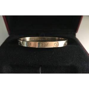 Cartier 18K Yellow Gold Love Bracelet Size 16