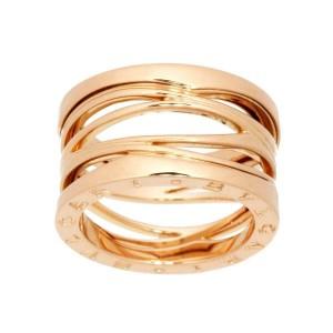 BVLGARI 18K Pink Gold B-ZERO 1 egend 4 BAND Ring