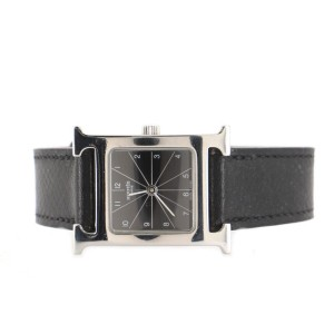 Hermes Heure H Quartz Watch Stainless Steel and Leather 21