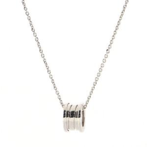 Bvlgari B.Zero1 Round Pendant Necklace 18K White Gold Small