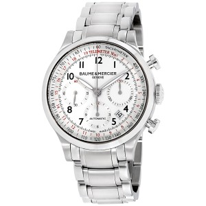 Baume & Mercier Capeland M0A10061 Stainless Steel with White Dial 42mm Mens Watch
