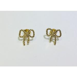 Tiffany & Co. 18K Yellow Gold Twist Bow Stud Earrings