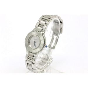 Cartier W10109T2 Must 21 Steel Quartz 28mm Womens Watch