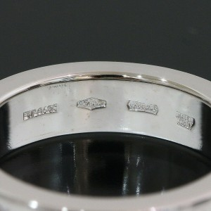 BULGARI Double Logo 1P Diamond Ring in 18K White Gold US3.5