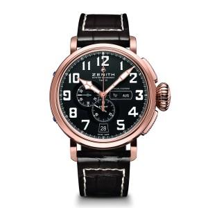 ZENITH Pilot Type 20 Annual Calendar 87.2430.4054.21/C721 Brown Calfskin 48mm Mens Watch